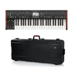 Behringer DeepMind 12 True Analog 12-Voice Polyphonic Synthesizer – With Gator Cases TSA S ...
