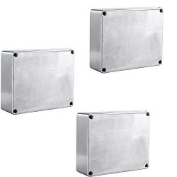 E Support 1590BB Aluminum Metal Stomp Box Case Enclosure Guitar Effect Pedal Pack of 3