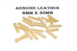 Accordion Repair Reed Valves. Genuine Leather. Size 6mm x 30mm (Pack of 25)