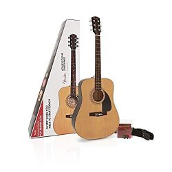 Fender FA-115 Beginner Acoustic Guitar Pack, Dreadnought body style – Natural Finish