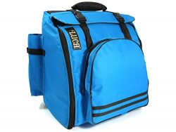 D'Luca DAG-48/72-BL Pro Series Accordion Gig Bag for 48/72 Bass Piano Accordions, Blue
