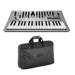 Korg Minilogue 4 voice Analog Synthesizer with 2 Oscillators per Voice and 16 step Sequencer wit ...