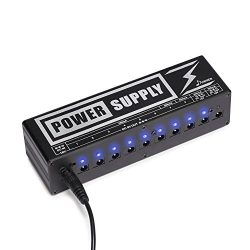 Donner DP-2 Guitar Pedal Power Supply High Current 10 Isolated DC Output for 9V/12V/18V Effect P ...