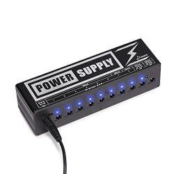 Donner DP-2 Guitar Pedal Power Supply High Current 10 Isolated DC Output for 9V/12V/18V Effect P ...
