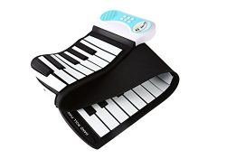 KikerTech 49 Keys – Educational Electronic Digital Roll Up Piano Keyboard w/ Recording Fea ...