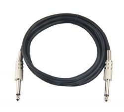 Devinal [10 Feet] Professional Guitar Instrument Cable, 6.35mm 1/4 TS Mono Plug Unbalanced Patch ...
