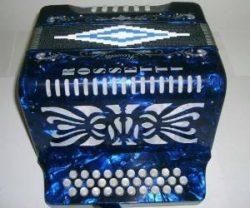 Rossetti 31 Button Accordion 12 Bass, Case, Straps, GCF, BLUE