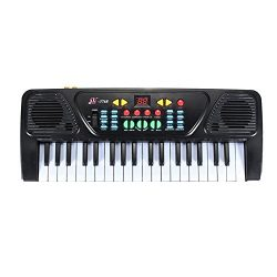 TANGON Electronic Organ Musical Keyboard Toy 37 Key Kids Piano with Microphone