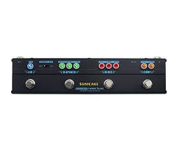 Sonicake Multi Guitar Effect Pedal Strip Sonicbar Twiggy Blues Combined Stage 4 in 1 Effect Comp ...