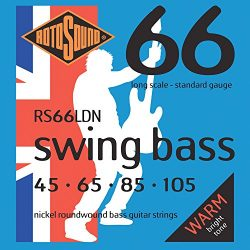 Rotosound RS66LDN Nickel Bass Guitar Strings (45 65 85 105)