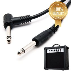 10ft black amplifier patch cord cable at right angle for electric guitar