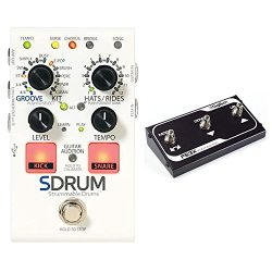 DigiTech SDRUM Auto drummer Guitar Pedal Stompbox sized Drum Machine with Automatic Accompanimen ...