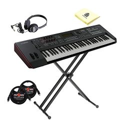 Yamaha MOXF6 Semi Weighted 61 Keys Keyboard Synthesizer with MOTIF XF Sound Engine and Flash Mem ...