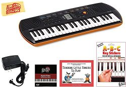 Casio SA-76 Mini Keyboard Bundle with Power Supply, Removeable Stickers, Instructional Book, Aus ...