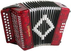 Scarlatti 2 Row B/C Accordion – Red