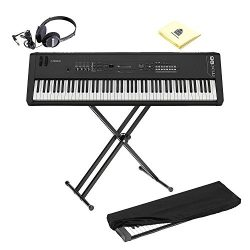 Yamaha MX88 Full-Size 88 Key Graded Hammer Standard Synthesizer Controller with 1000+ MOTIF XS S ...