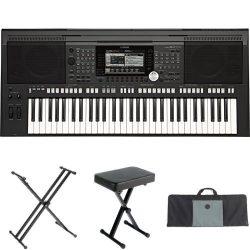 Yamaha PSR-S970 61-Key Arranger Workstation with Yamaha Stand, Bench, and Case