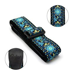 Guitar Strap Jacquard Weaving Strap Woven Braided Adjustable Strap for Guitar Bass,100% Cotton&a ...