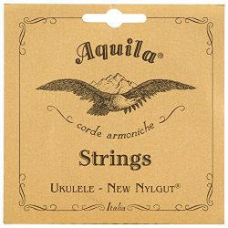 Aquila New Nylgut AQ-15 Tenor Ukulele Strings – Wound Low G – 1 Set of 4