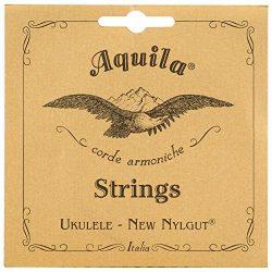 Aquila New Nylgut AQ-28 Banjo Ukulele Strings – Wound High G – 1 Set of 4