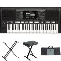 Yamaha PSR-S770 61-Key Arranger Workstation with Yamaha Stand, Bench, and Case