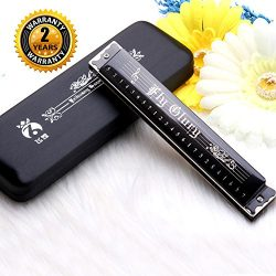 Best Harmonica C Key 24 Holes Major Diatonic Double Tremolo Beginner Harmonicas for Sale Musical ...