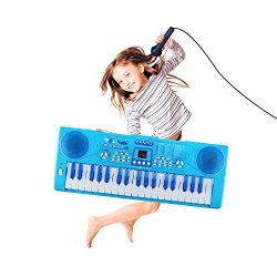 M SANMERSEN Kids Piano, Sanmersen 37 Key Multi-function Electronic Keyboard Piano Play Piano Org ...