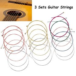 3 Set Acoustic Guitar Strings Set Ideal For Beginners And Girls, 18 Pieces (011-052) Replacement ...