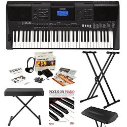 Yamaha PSRE453 – 61 Key Touch Response Portable Keyboard with Powerful On Board Speakers i ...