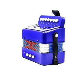 Andoer Kids Children 7-Key 2 Bass Mini Small Accordion Educational Musical Instrument Rhythm Ban ...