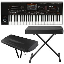 Korg PA4X 61-Key Professional Arranger Keyboard with Knox X-Style Bench & Dust Cover