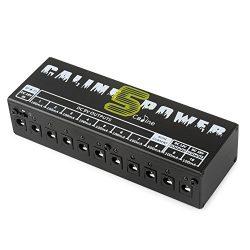 Caline CP-05 Guitar Pedal Board Power Supply 10 Output 9V 12V 18V Effect Pedals with Short Circu ...