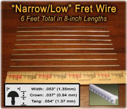 Narrow/Low Fret Wire for Mandolin, Banjo, Ukelele, Dulcimer & more – Six Feet