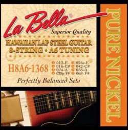 LaBella H8A6-1368 Hawaiian Lap Steel Guitar Pure Nickel – 8-String A6 Tuning 13-68