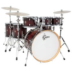 Gretsch CM1E826PDCB 2014 Catalina Maple 6-Piece Shell Pack with Free Additional 8″ Tom, De ...