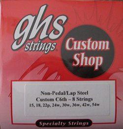 GHS Lap Steel Guitar Strings – C6th-8 Strings – Gauges 15-54W – 1 Set