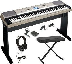 Yamaha YPG-535 88-Key Digital Piano w/ Knox Adjustable X Style bench & Full-Size Studio Head ...