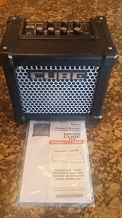 Roland Micro Cube Battery Powered Guitar Amplifier | M-CUBE-GX with 8 DSP Effects, 8 COSM Amplif ...