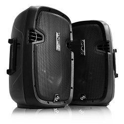 Pyle 2 Powered Bluetooth PA Active Loudspeaker with Microphone Kit – 10 Inch  Bass Subwoof ...