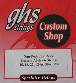 Lap Steel Guitar Strings GHS Custom 6 Strings A6 tuning – 15-36w gauges – 2 Sets