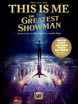 This Is Me – from The Greatest Showman – Piano/Vocal/Guitar Sheet Music Single with  ...