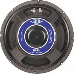 Eminence Legend B810 10″ Bass Amplifier Speaker, 150 Watts at 32 Ohms