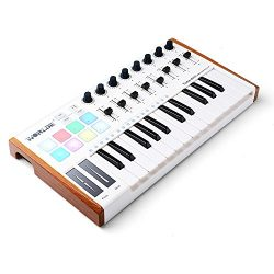 Worlde 25 Key USB Portable Tuna Mini MIDI Keyboard MIDI Controller (8 Knobs/8 Pads/8 Faders) wit ...
