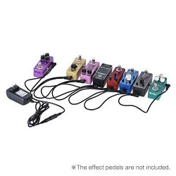 Guitar Effect Pedal 8 way Daisy Chain Power Supply Cable with 2A 9V DC Adapter (8 Way Daisy Chain)