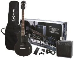 Epiphone Les Paul Electric Guitar Player Package, Ebony
