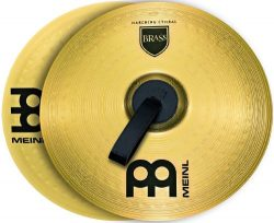 Meinl Cymbals MA-BR-16M Brass 16-Inch Marching Cymbal Pair with Straps