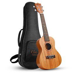 Ukelele Hricane Concert Ukulele 23inch Professional Mahogany Ukele Hawaiian Uke UKM-2 Pack with  ...