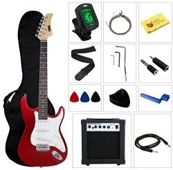 Stedman Pro Ymc Full Size Electric Guitar With Amp, Case And Accessories Pack Beginner Starter P ...