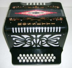 Rossetti 31×12 Button Accordion, Key ADG, Case/Straps/DVD, Black, 3112 BLK ADG