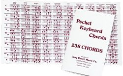 Pocket Piano Chord Reference Fingering Chart for Keyboard